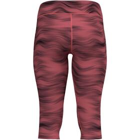 Odlo Essential Soft Print Tights 3/4 Women, rojo